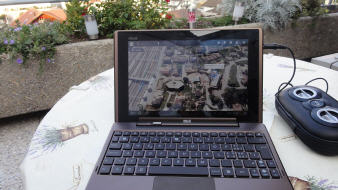 ASUS tablet PC mit Tastatur